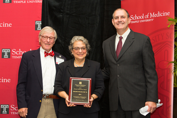 Photo of Dr. Helene Pavlov with her award
