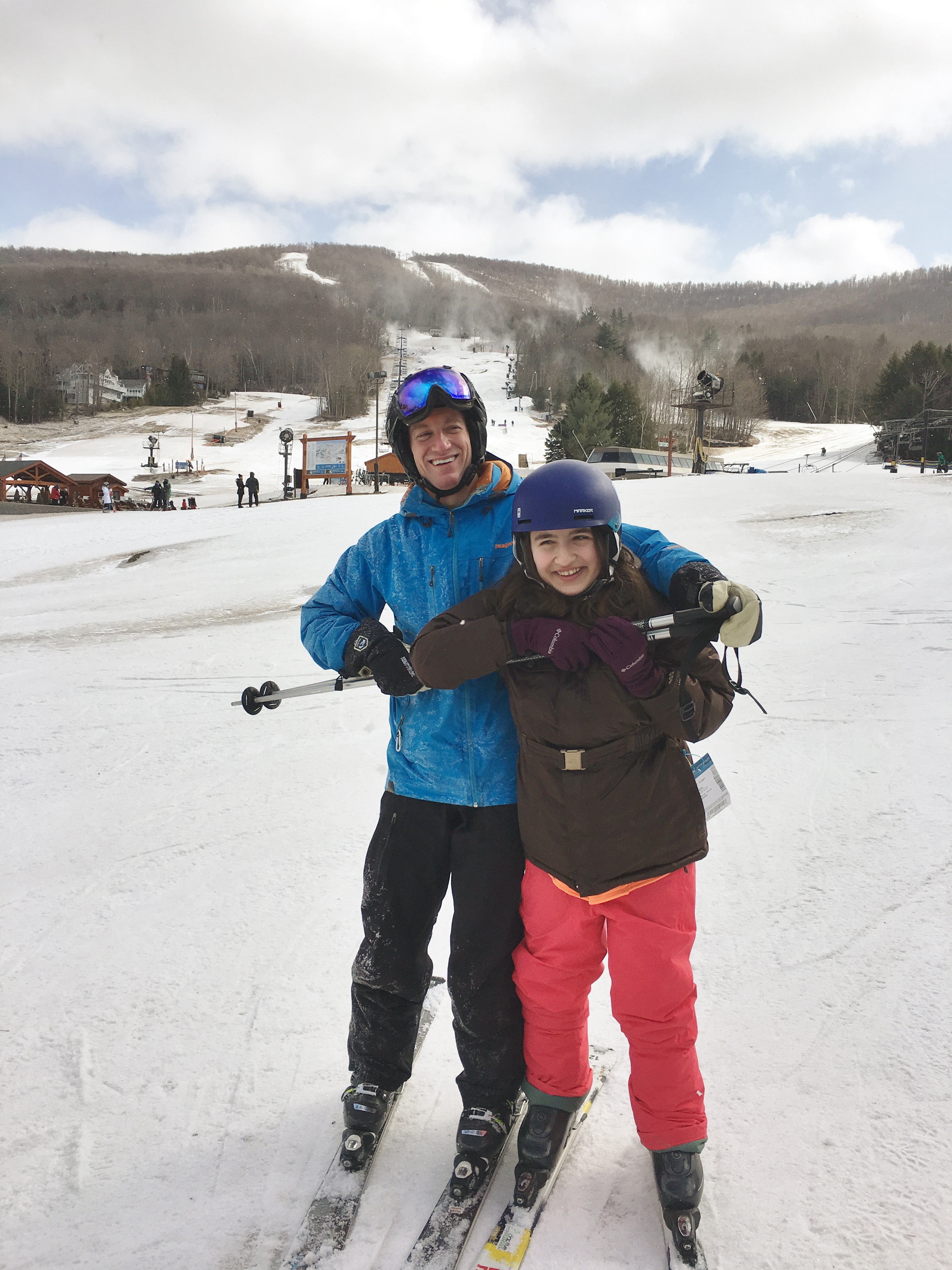 Pediatric orthopedic surgeon Dr. David Scher with patient Isabella Cottone on last year's ski trip sponsored by Hospital for Special Surgery.