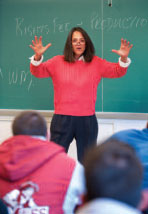 Image of a teacher instructing a class