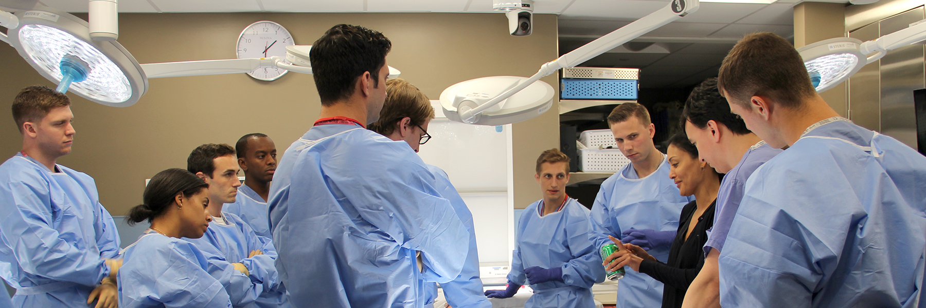 Banner image of Dr. Duretti Fufa training a group of orthopaedic residents.