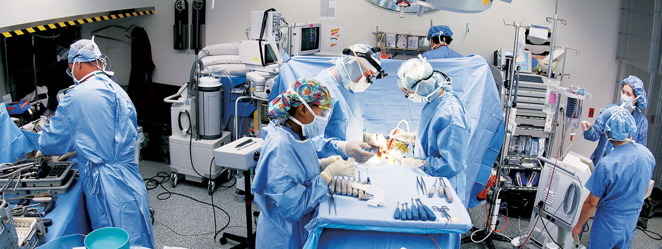 Image - Surgery in progress in an HSS operating room