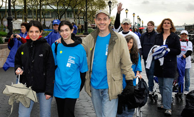 Dr. Theodore Fields walked with his family to raise awareness and money for Arthritis Research.