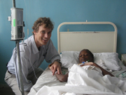 Andrew N. Swanson, MD with a pediatric patient
