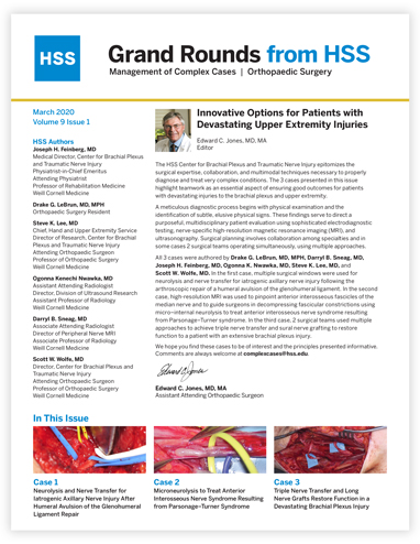 Link to Grand Rounds from HSS March 2020 Issue