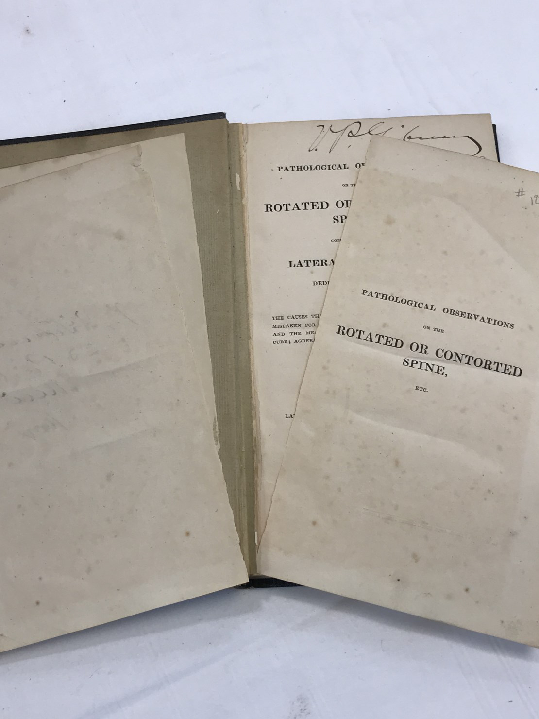 Repair needed to torn pages of Dods book