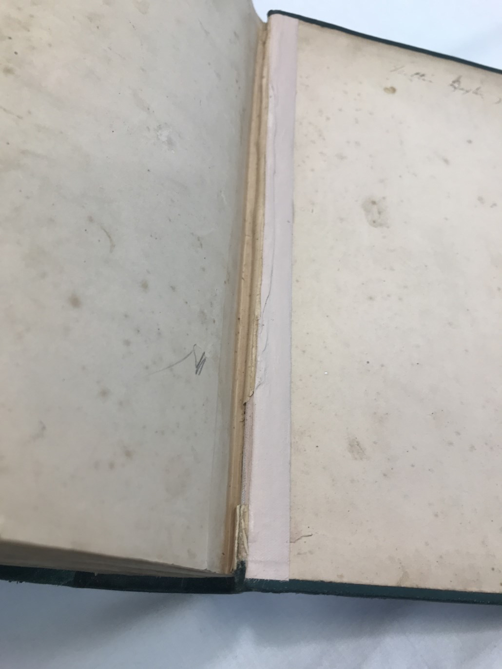 repair needed to hinge of book