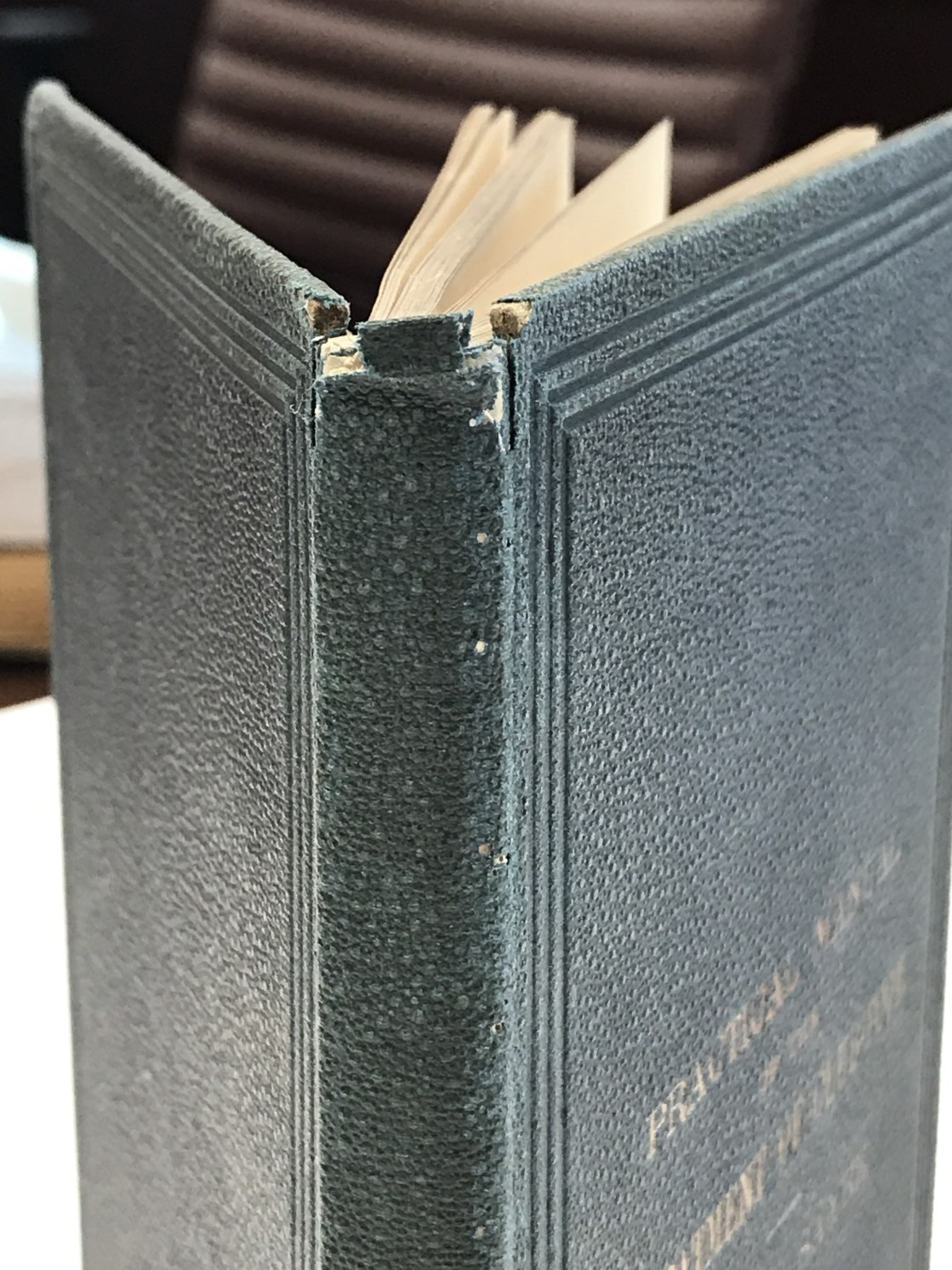 repair needed to book's spine