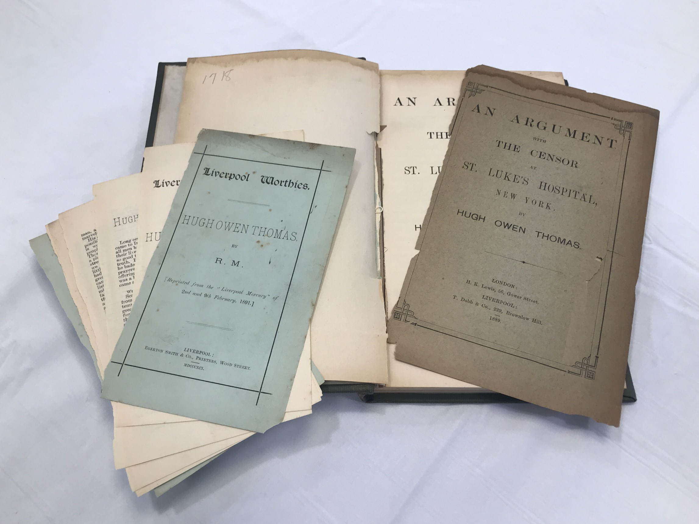 many detached pages and repairs needed to Thomas's book