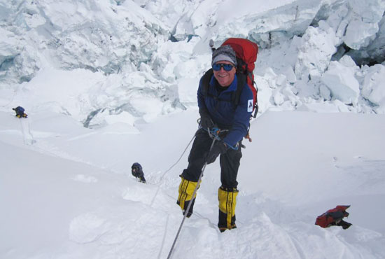 Photo of Don Healy on Mount Everest