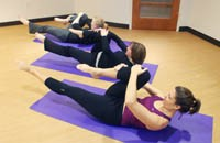 Students in pilates class