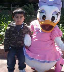Photo of Ismael and Daisy Duck