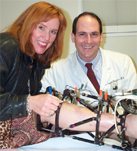 Photo of Colleen with Dr. Rozbruch