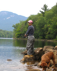Photo of Denise fishing