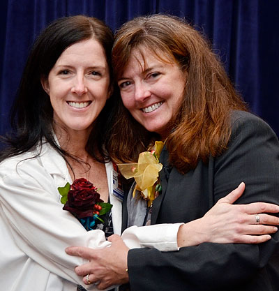 Christy Loughlin, PA-C, with her sister