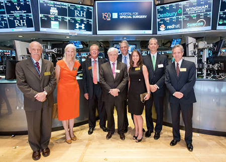 Members of the HSS Family at the NYSE on June 17th for the Closing Bell Ringing.