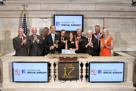 HSS Family members at the NYSE on June 17th for the bell ringing.
