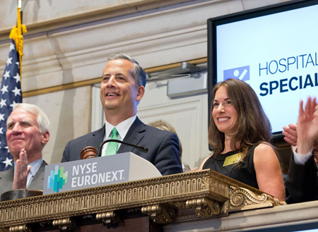 Louis A Shapiro, CEO and Christine Carey, 2012 Employee of the Year at the NYSE for the Closing Bell Ringing on June 17th.