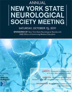 Annual New York State Neurological Society Meeting cover