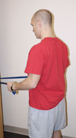Thumbnail photo of postural muscle strengthening exercise with bent arms