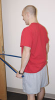 Thumbnail photo of postural muscle strengthening exercise with straight arms