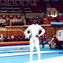 Peter Lewison as a fencer