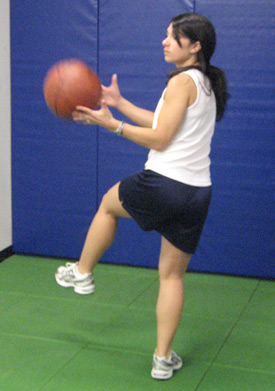 ACL Injury Prevention: Balance - Single leg ball pass