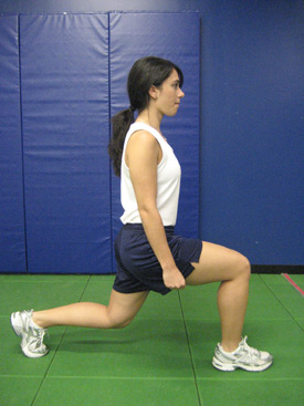 ACL Injury Prevention: split and walking lunge