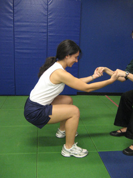 ACL Injury Prevention: Squats to strengthen quads