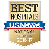 Graphic - U.S.News Best Hospitals - Orthopedics