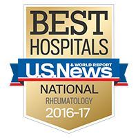 Graphic - U.S.News Best Hospitals - Rheumatology