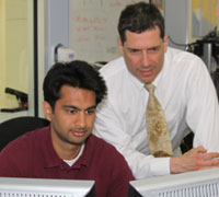 Vishal Patel, Volunteer and Research Assistant, working alongside Howard Hillstrom, PhD.