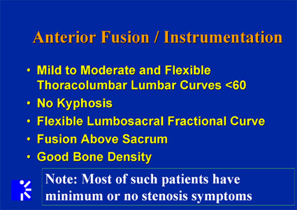 Anterior Fusion and Instrumentation slide
