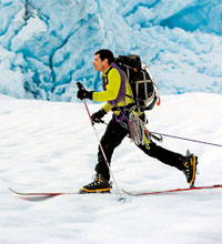 Photo of Dr. Benowitz skiing