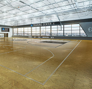 At a press conference this morning, the Brooklyn Nets announced their plans to build a new state-of-the-art training center in Brooklyn, featuring panoramic views of New York Harbor, which will serve as the team's practice site starting with the 2015-16 season.