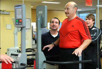 Photo of Alexander Brum at physical therapy.