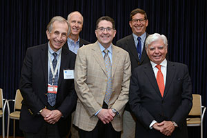 Photo of Dr. Thomas Sculco and others at the 2019 Biofilm Symposium.