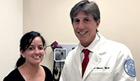 Photo of Dr. Robert Spiera and his scleroderma patient.