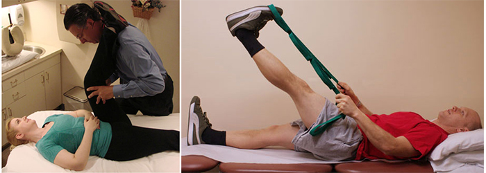 Hamstring stretches: assisted and unassisted