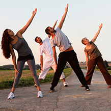 Image: Photo of people doing tai chi.