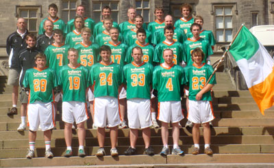 Photo of the Irish National Lacrosse Team
