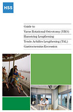 Cover - Guide to Varus Rotational Osteotomy (VRO), Hamstring Lengthening, Tendo Achilles Lengthening (TAL), Gastrocnemius Recession