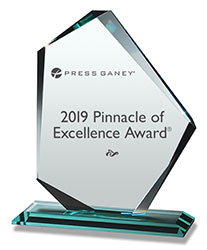 Image of the Press Ganey Pinnacle of Excellence Award