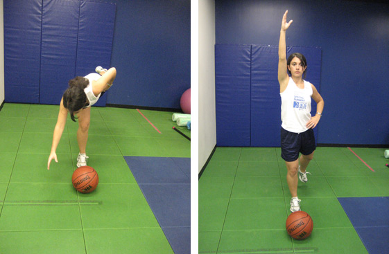 ACL Injury Prevention: Balance - Single leg multiplanar reach with arm and leg