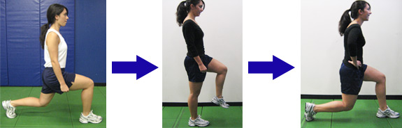ACL Injury Prevention: walking lunges