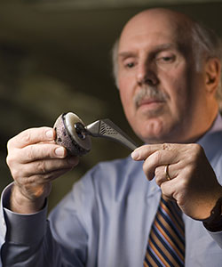 Image: Timothy Wright, PhD., with hip implant