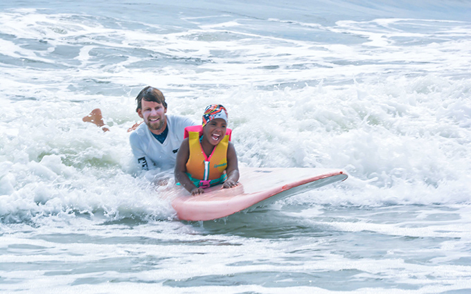 HSS Adaptive Sports Academy - surfing at the Rockaways