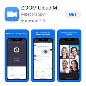screenshot of ZOOM in app store