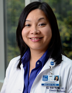 Image: Photo of Sue Xiao Yu, MS, RD, CDN, CDE.