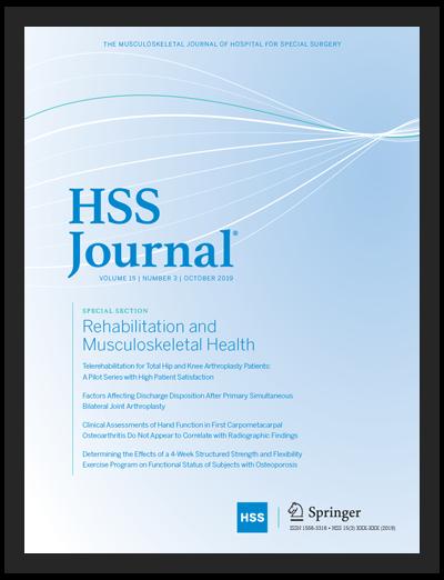 HSS Journal® Cover