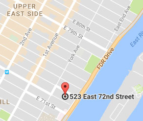 Map of 523 East 72nd Street